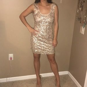 Gold GUESS Formal Dress